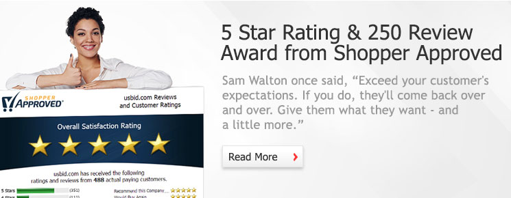 5 Star Rating & 250 Reviews from Shopper Approved
