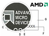 AMD-K6-2/450ADK Example Part Markings