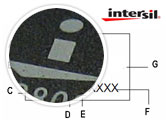 CA3089E Example Part Markings