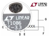 LTC485MJ8883 Example Part Markings