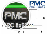 PM39F020-70VCE Example Part Markings