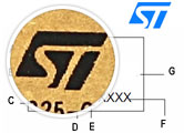 STP55NE06 Example Part Markings