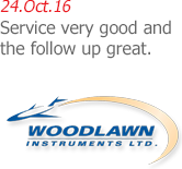 Woodlawn Instruments - Service very good and the follow up great.