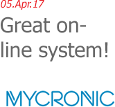 05.Apr.17 | Mycronic, Inc. - Great on-line system!
