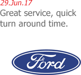 29.Jun.17 | Ford Motor Company - Great service, quick turn around time.